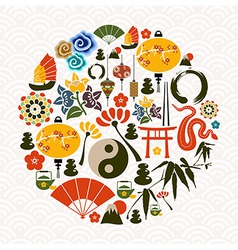 Chinese New Year of the Snake circle vector