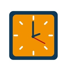clock watch break school isolated vector image