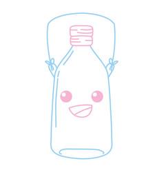 Color line happy mason jar kawaii with wire handle vector
