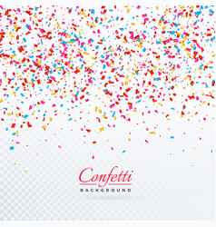 Colorful falling confetti background design vector