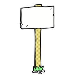 comic cartoon signpost vector image