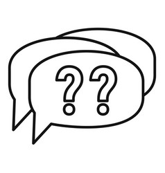 Confuse alzheimer question icon outline style vector