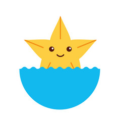 cute starfish isolated icon vector image