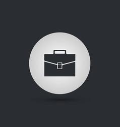 dark briefcase icon vector image