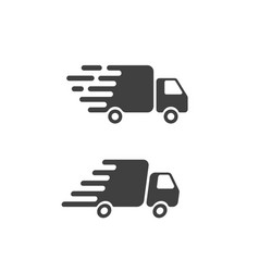 delivery truck icon flat symbol fast shipping vector image