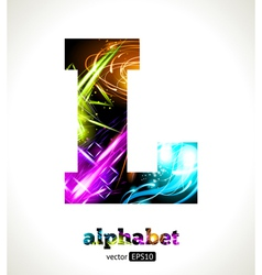 Design Abstract Letter L vector image