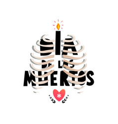dia de pos muertos greeting card or invitation vector image
