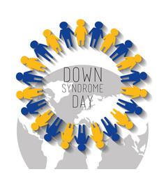 Down syndrome day world and people childhood vector