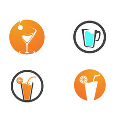 drink juice logo and symbols template app vector image
