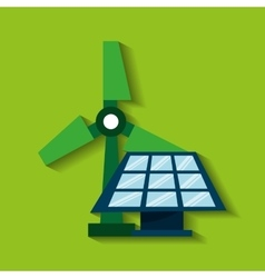 ecological alternative energy green vector image