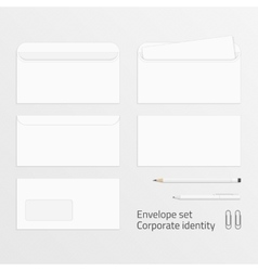 Envelope set corporate identity elements vector