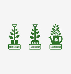Farm grown logo vector