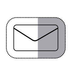 figure e-mail message icon vector image
