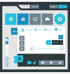 Flat design UI UX kit vector