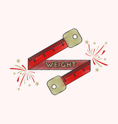 flat shading style icon weight loss logo vector image