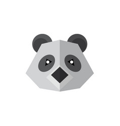 flat style icon panda isolated on a white vector image