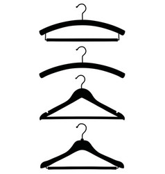 Four black silhouettes classic coathangers vector