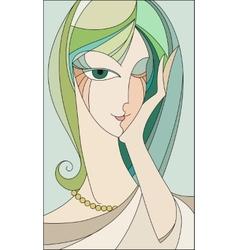 girl winks vector image