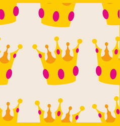 gold crown seamless background or tile pattern vector image