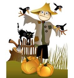 Halloween scarecrow vector