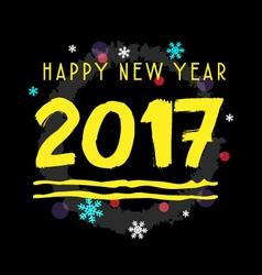 Happy new year 2017 type vector