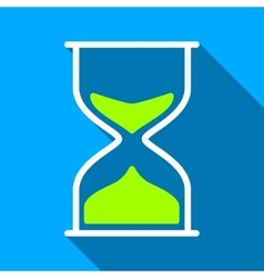 Hourglass Flat Long Shadow Square Icon vector