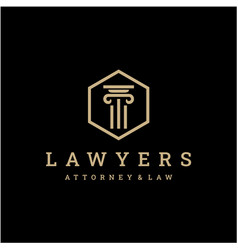 Law firm logo icon design universal legal lawyer vector
