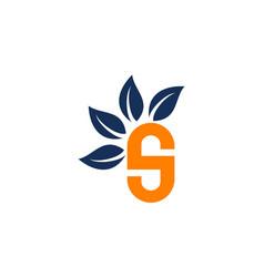 letter s leaf vector image