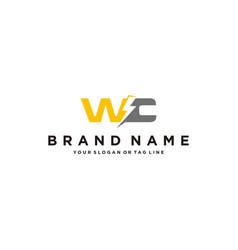 Letter w electric logo design vector