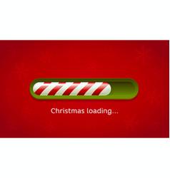 loading christmas red and green web bar on dark vector image
