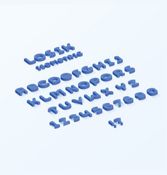 losik isometric font vector image