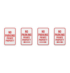 no parking private property vector image