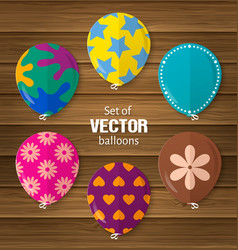 Party balloons in flat style vector