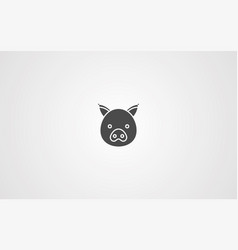 pig icon sign symbol vector image