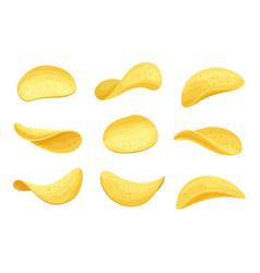 Potato chips set vector