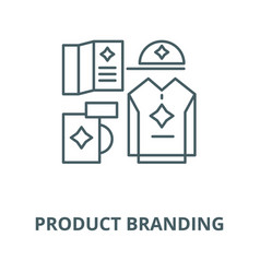 product branding line icon linear concept vector image