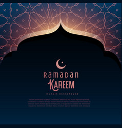 ramadan kareem festival greeting with mosque door vector image