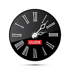 Retro Black Abstract Alarm Clock Isolated on White vector image