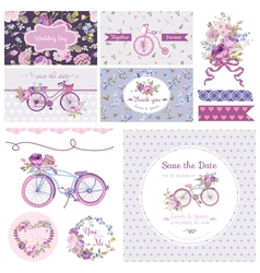 Scrapbook design elements - wedding party vector