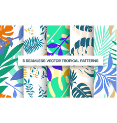 seamless pattern template presentation vector image