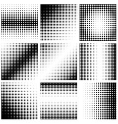 set of abstract dotted background halftone effect vector image