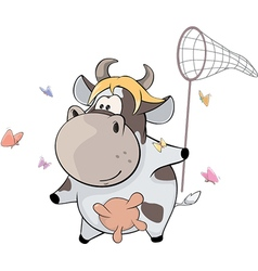 small cow Cartoon vector image