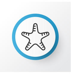 Starfish icon symbol premium quality isolated sea vector
