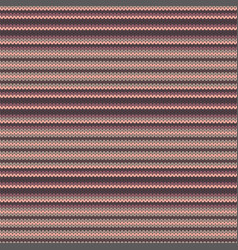 Striped knitted seamless pattern vector