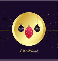 stylish merry christmas ornamental decoration vector image