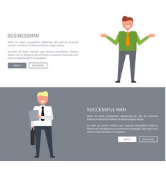 succsessful man and businessman vector image