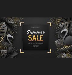 summer sale poster on black background vector image