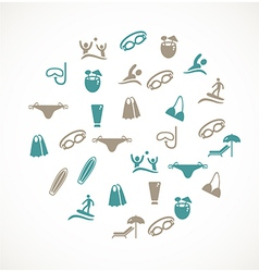Swimming icons vector image