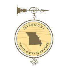 Vintage label Missouri vector