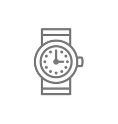 Watch clock line icon vector